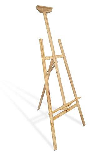 Staffelei holz groß Kinder - Leinwand Ständer Staffeleien für Maler aus Kieferholz 180 cm höhenverstellbar