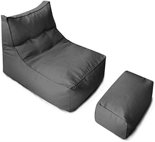 LHY- Lazy Sofa Chaise Fabric Ins Simple Canapé inclinable Canapé Simple Salon Chambre Amovible Bean Bag Doux (Color : Dark Gray)