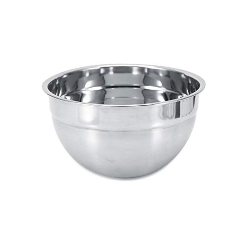 Stainless Steel Thicker Mixing Bowl Bottom Prevent Splash Egg Beating Pan/Mixing Bowl 4 Sizes Salad Bowls Kitchen Cooking Tools (Size : 22cm)