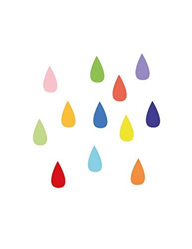 DECOLOOPIO Adesivi murali: Gocce di Pioggia