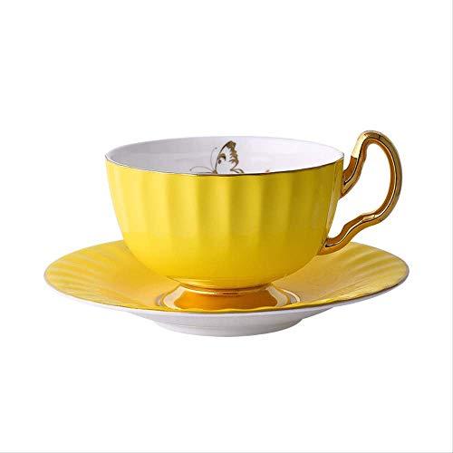 MZSC Becher Kaffeetasse Set Geprägt Einfarbig Keramik Tasse Und Untertasse Handbemalt Phnom Penh 45prozent Knochenpulver Hoch Bone China Rot Teetasse 101-200Ml