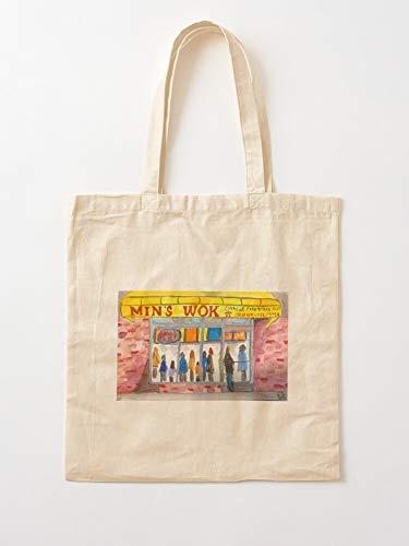 Mins Take Wok People Business Food Open Worcester Out Chinese Local Tote en coton très sac | Sacs d'épicerie de toile sacs fourre-tout avec poignées sacs à provisions en coton durable