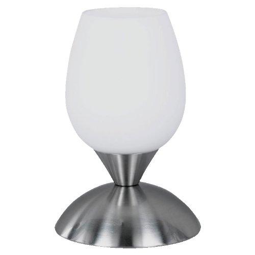 Reality|Trio Tischleuchte Tischlampe Touch Me ~ Nickel matt, Glas Opal matt weiß