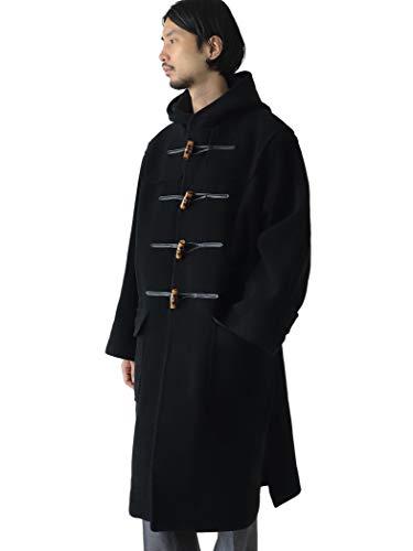 [ビームスライツ] コート カットパイル へリンボーン ダッフルコート メンズ ブラック S