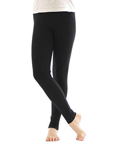 yeset Thermo Leggings Leggins Hose lang aus Baumwolle Fleece warm dick weich schwarz XL
