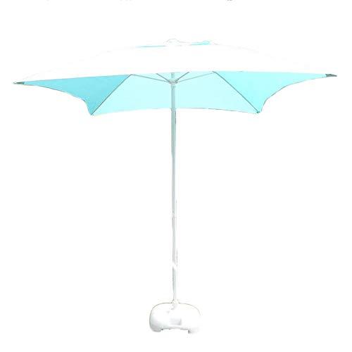 HH- Sombrillas Ø 6.56 Pies / 200 cm Parasol de Mesa para Patio de Jardín, Paraguas Cuadrado con Hueso de Fibra de Vidrio de 11 cm, Sun Shelter UV50 + para Cubierta, Piscina, Playa