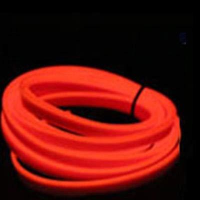 Decoración 1M interior del coche llevó la tira flexible de luz de neón Garland Lisence Placa alambre tubo de la cuerda Línea Con controlador USB bricolaje Atmosphere Luces ( Emitting Color : 1M Red )