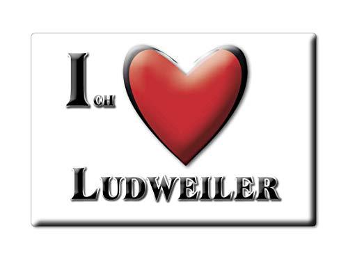 Enjoymagnets LUDWEILER (SL) Souvenir Deutschland Saarland Fridge Magnet KÜHLSCHRANK Magnet ICH Liebe I Love