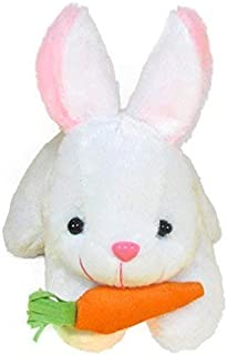 RSS Toys Rabbit with Carrot Stuffed Soft Plush Toy, White (26 cm)