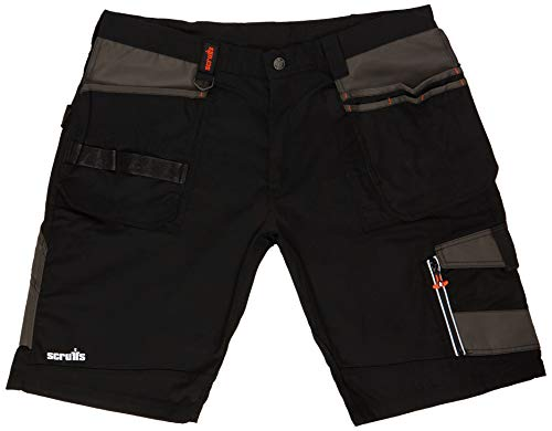 Scruffs - Trade Short pour homme - Noir - FR: 48 (Taille Fabricant: 38)