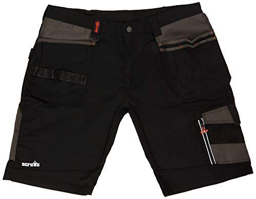Scruffs T53927 Trade Shorts Black Work Combat Cargo Size 32