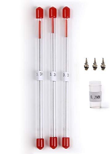 RAYWOOD エアブラシ 口径 0.3�o ハンドピース用 ニードル・ノズルセット ハンドピース リペアキット 交換 修理 メンテナンス 充電式 コンプレッサー