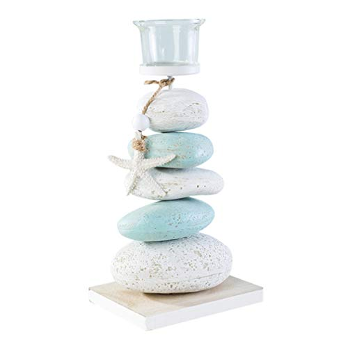 BESPORTBLE Nautical Candle Holder Stone Sea Star Tealight Candle Holder Mediterranean Style Tabletop Decor for Home Party