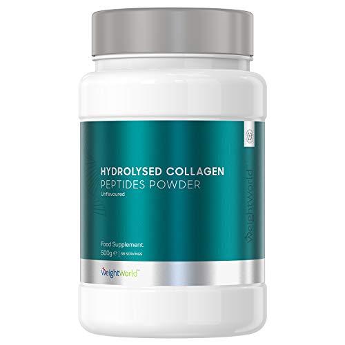 Premium Kollagen Pulver hochdosiert 500mg - Natürlich & Laborgeprüft - Kollagen Hydrolysat Peptide ohne Zusätze - Typ I & III für Gelenke, Muskeln, Haut & Haare - Bovine Protein Geschmacksneutral