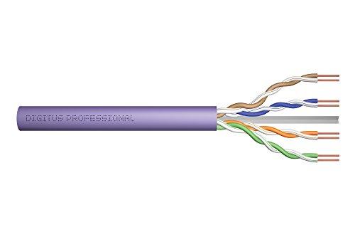 DIGITUS Netzwerk-Kabel Cat-6 - 100m U-UTP Verlege-Kabel - Simplex - Eca LSZH-1 - 250 MHz - AWG 23/1 Kupfer - Violett
