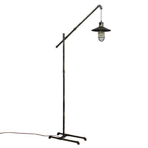 LY88 Floor Light vloerlamp Loft voor waterpijp, industrieel eenvoudig, creatief, verticaal nachtkastje, woonkamer, werkkamer, afmetingen van de lamp: 28 x 53 x 200 cm