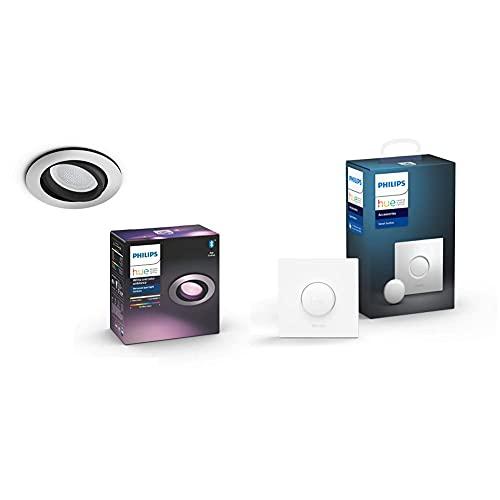 Philips Hue – Lámpara inteligente, Hue Centura, Foco Empotrable LED Inteligente + Interuptor inteligente , Accesorio para bombillas y lámparas inteligentes Hue, Compatible con Alexa y Google Home