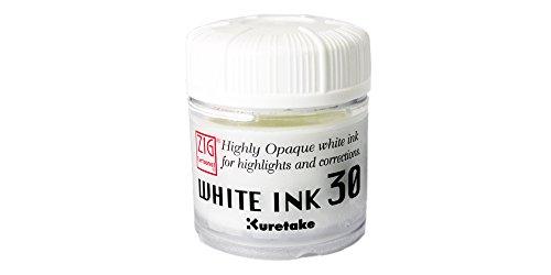 Kuretake - Bote de tinta, color blanco