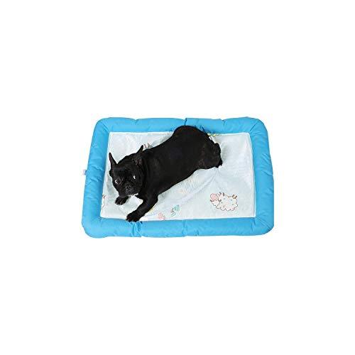 Kühlmatte | Belüftetes Katzennest und Cooles Nest Matratze Matratze Matratze Eisseide Hundes Nest Haustiernetz Rote Matte In Sommerblau Cool Nest-84x59x5