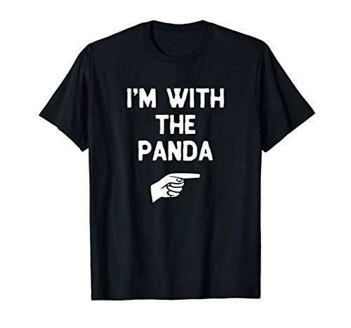 I'm With The Panda Costume Halloween Matching T-Shirt