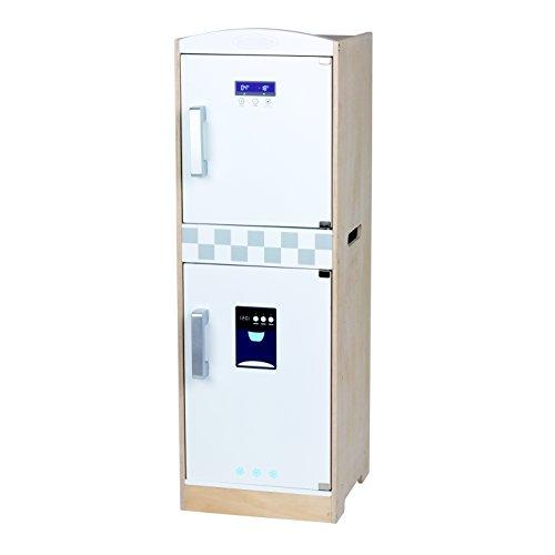 Réfrigérateur Combi en bois - Portes fonctionnelles - Dimensions: 30 x 29 x 85 cm