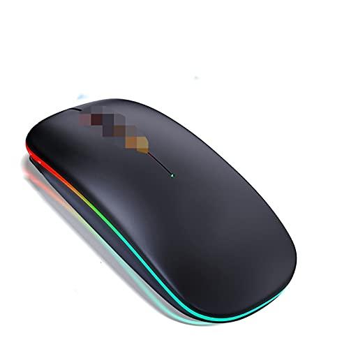 MMBH Wireless Bluetooth Cursor Mouse Player Mute Ergonomía Adecuado para ordenador portátil (Color: RGB Wireless Negro)