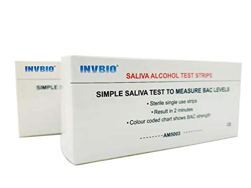 INVBIO Alcohol Saliva Test Strips Kit, Alcohol Tester, Accurate and 2 Minutes to Get Results (5 Count)