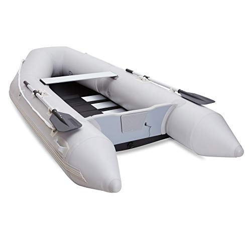 CO-Z Inflatable Kayak for Adults 300x150x42cm Portable Raft 4 Person 450kg PVC Float for Boating Fishing Hunting or Playing on Lakes Rivers and White Water Rapids