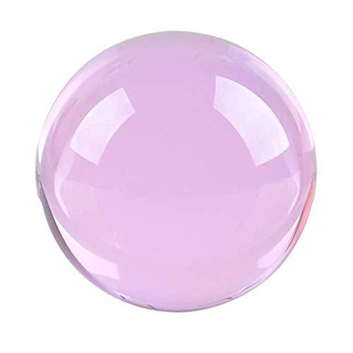 Tubayia 50mm Kristallkugel Glaskugel Fotokugel Fotografie Requisiten Dekoration Geschenk (Rosa)