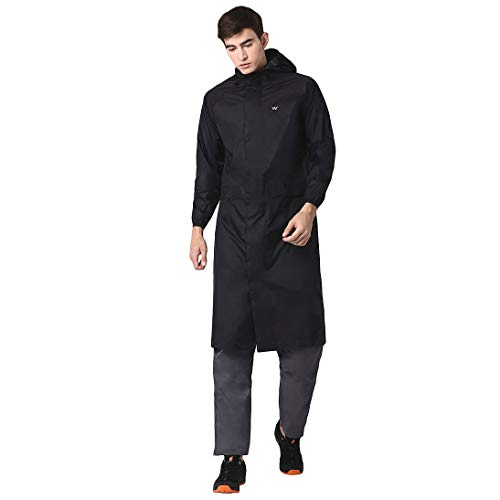 Wildcraft Hypadry Unisex Raincoat (41305) -XL , Black