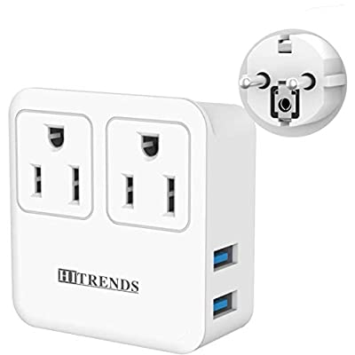 Schuko Germany France Travel Power Adapter, Eur...