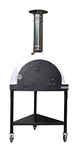 XclusiveDecor Royal Mobile Wood Fired Pizza Oven Garden Patio Barbecue