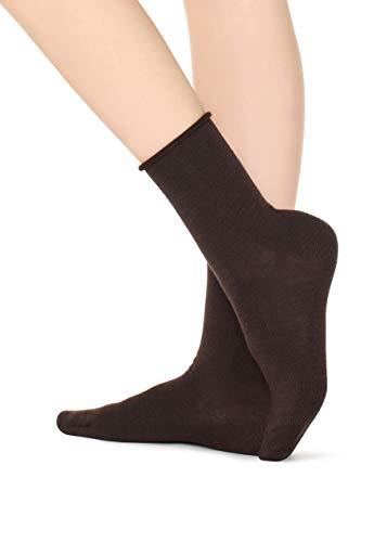 Calzedonia Damen Socke aus Wolle/Baumwolle ohne Bündchen