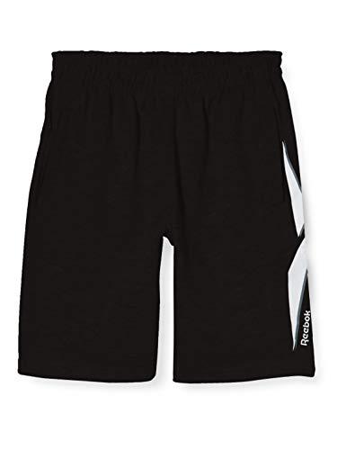 Reebok Jungen Pantalon Corto Big The Vector Kurze Hose, schwarz, S