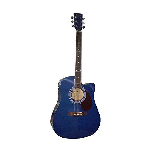 Guitarra Acústica Azul