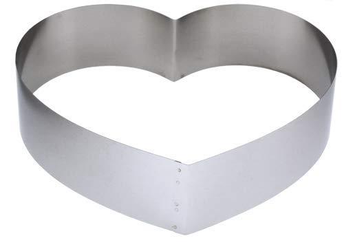 Lares - Backform/Backrahmen/Tortenring - aus Federbandstahl - Motiv: Herz groß - Ø ca. 28cm, H: ca. 7cm - Made in Germany