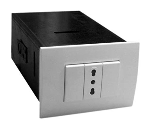 Cassaforte invisibile ad incasso verniciata 1 cassetto 18 x 11 x 7 cm