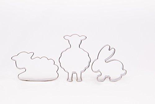 Krifka Formina Schaf stehend, Schaf, Hase, 3er Set Ostern, Ausstecher, Ausstechform aus Edelstahl