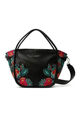 Desigual PU Shoulder Bag, Handbag Femme, Noir, Taille Unique