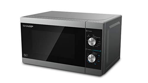 Sharp YC-MG01ES Mikrowelle mit Grillfunktion/ 800 Watt/ 20 liter/ 5 Leistungsstufen/Timer-Funktion/inkl. Drehteller