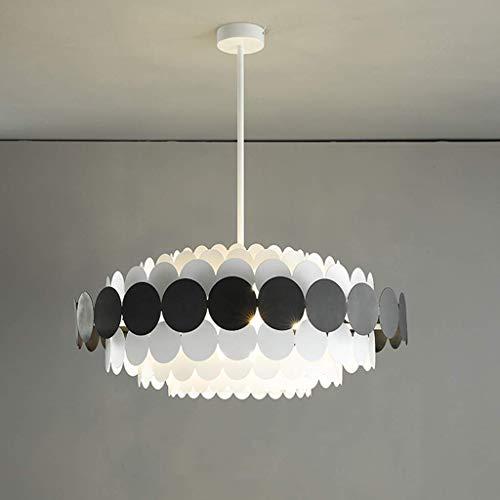 SKSNB Lámpara Colgante de Techo Moderna con diseño de múltiples Capas, lámpara Colgante de Hierro y acrílico, lámpara Colgante para Dormitorio, Sala de Estar, Cocina, Comedor, Mesa, ilum