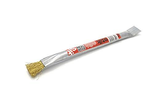 PYRO FEU 862465 stalen penseel voor pelletkachels, grijs