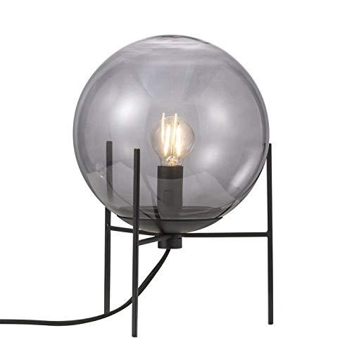 Tischleuchte ALTON, E14, IP20, schwarz/rauchfarben