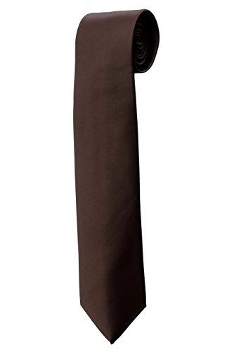 Cravate unie en satin marron DESIGN costume homme mariage