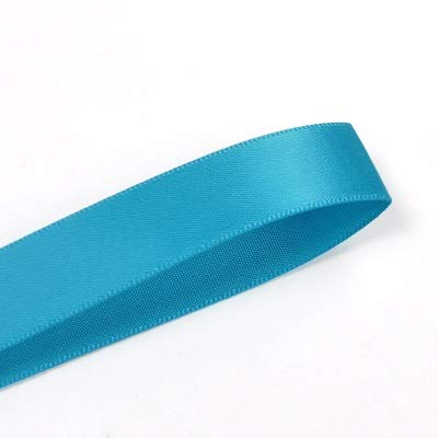 JAP768 13mm Double Face Satin Ribbon 100yards Blue For Party Wedding Decoration Handmade Rose Flowers Ribbongs (Color : Methyl blue 326, Size : 13mm)