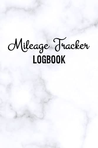 Mileage Tracker Logbook: Daily Tracking Odometer Logbook | Mileage Log Book For Truckers | Cute Marble Cover