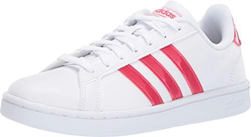 adidas Originals Grand Court White/Active Pink/White 8.5 B (M)