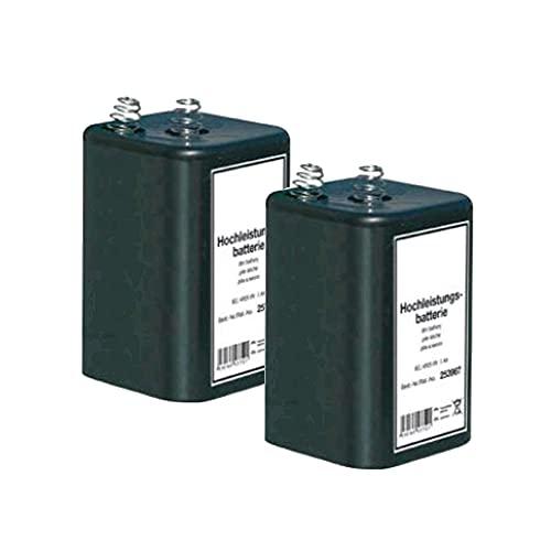 2X Blockbatterie IEC 4R25 6V 7Ah Quecksilberfrei Batterie Hochleistungsbatterie