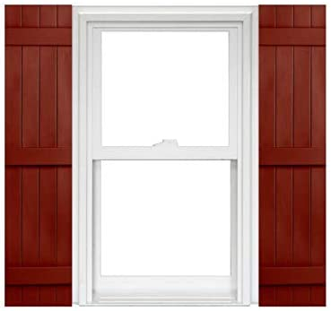 Homeside 4 Board Complete Free Shipping and Deluxe Batten Joined 1 Vinyl Shutters Pair 14-1