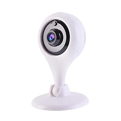 St.mary Sistema de Alarma de Seguridad con cámara inalámbrica WiFi HD Inteligente con visión Nocturna para Deportes al Aire Libre aplicable a Cafe Inn,White+16G